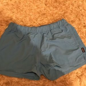 W Medium Blue Patagonia Shorts